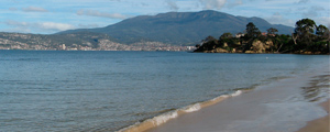 View of Mount Wellington and Howrah Beach, just a minutes walk from Sunshine Tennis Club